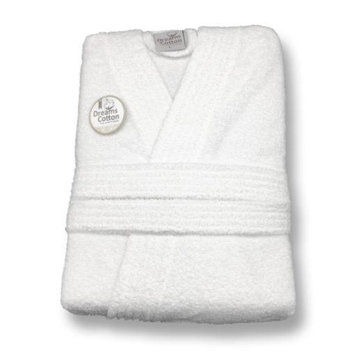 חלוק מגבת קצר לבן