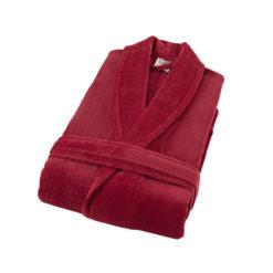 חלוק רחצה קטיפה מגבת 100% כותנה בורדו