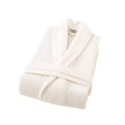 חלוק רחצה קטיפה מגבת 100% כותנה קרם