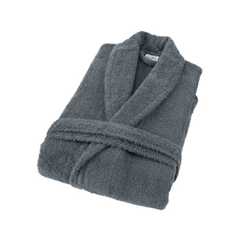 חלוק רחצה מגבת אפור
