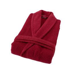 חלוק רחצה מגבת בורדו