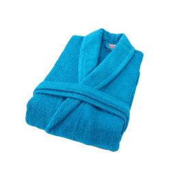 חלוק רחצה מגבת טורקיז