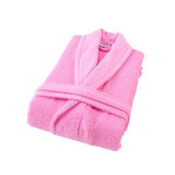 חלוק רחצה מגבת ורוד