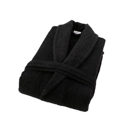 חלוק רחצה מגבת שחור
