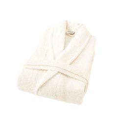 חלוק רחצה מגבת שמנת