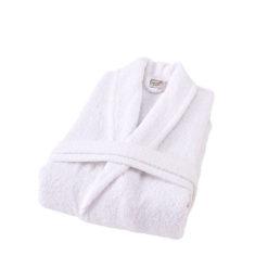חלוק רחצה מגבת לבן