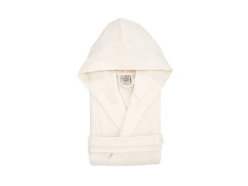 חלוק רחצה מגבת עם כובע קרם