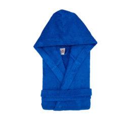 חלוק רחצה מגבת עם כובע כחול רויאל