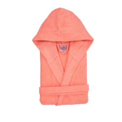 חלוק רחצה מגבת עם כובע אפרסק