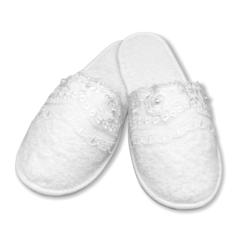 נעלי מגבת תחרה