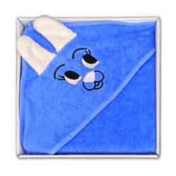 מגבת חיבוקי לתינוק עם קפוצ'ון אקווה