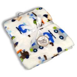 שמיכת תינוק מצויר כחול